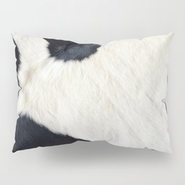 Cowhide Black and White Pillow Sham