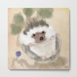 Hedgehog Hangout Metal Print