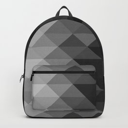 Grayscale triangle geometric squares pattern Backpack