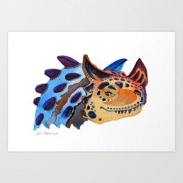 Horned Carnosaur Art Print