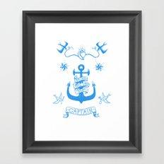 A Captain's Life  - Anchor & Birds Framed Art Print