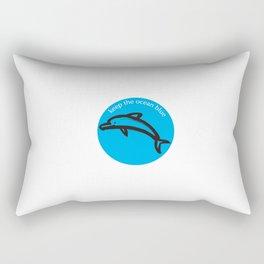 Keep the Ocean Blue_Dolphin_C Rectangular Pillow