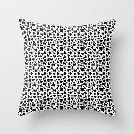 Dalmatian fur pattern Throw Pillow