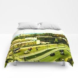 A warm city. Comforters