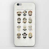 roald dahl iPhone & iPod Skins featuring Greater-Spotted British Authors by Scott Tyrrell
