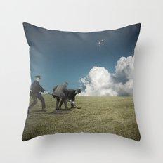 Kiteman Throw Pillow