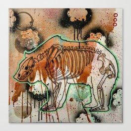 Bear Skeleton Canvas Print