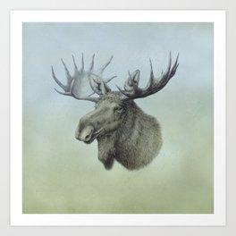 Moose, Elch, Elg Art Print