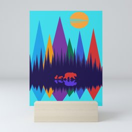 Bear & Cubs #3 Mini Art Print