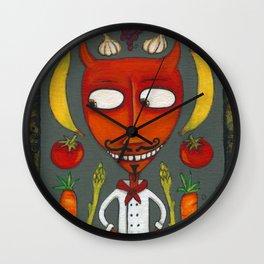 Chef Diablo Wall Clock