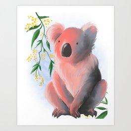 Sunset Koala Art Print