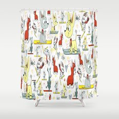 Chi's on skis Shower Curtain