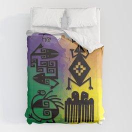 Los cuatro elementos precolombinos Comforters