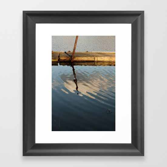Two Waters and a Cloud Framed Art Print