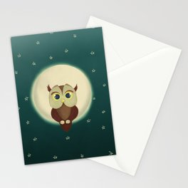 Owl by night Stationery Cards