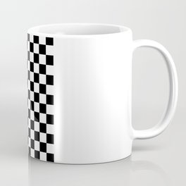 Race Flag Black and White Checkerboard Kaffeebecher