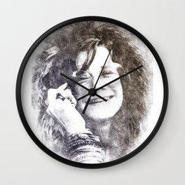 Janis Portrait 01 Wall Clock