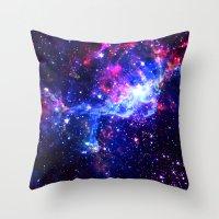 galaxy Throw Pillows featuring Galaxy by Matt Borchert