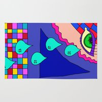 blankets Area & Throw Rugs featuring Abstract 34 by Linda Tomei