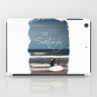 surfing iPad Cases featuring Surfing by Brandy Coleman Ford