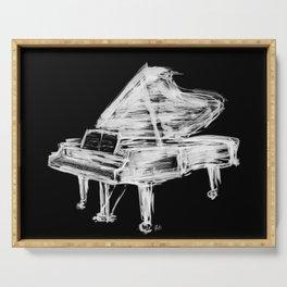 Black Piano Serving Tray