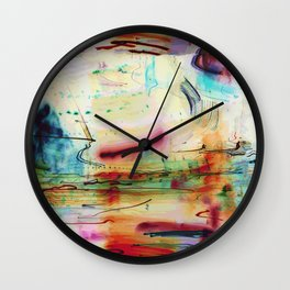 Abstract Painted Lights Wall Clock