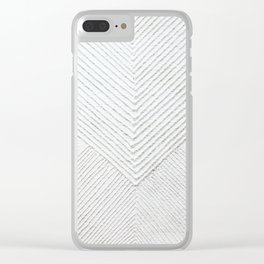 White Geometric Abstaction Clear iPhone Case
