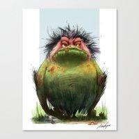 grumpy Canvas Prints featuring Grumpy by TamaraCampeauIllustration