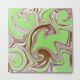 Abstract green trip Metal Print
