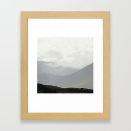 Rannoch Moor - mists and mountains Framed Art Print