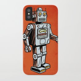 Retro Robot Toy iPhone Case