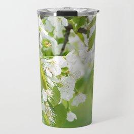 White cherry blossoms romance Travel Mug