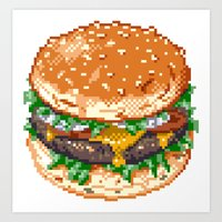 burger Art Prints featuring Burger by noirlac