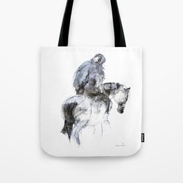 Horse (Winter Rider) Tote Bag