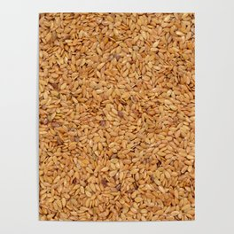 Golden linseed Poster