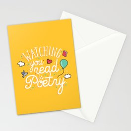 Watching you read is poetry Stationery Cards