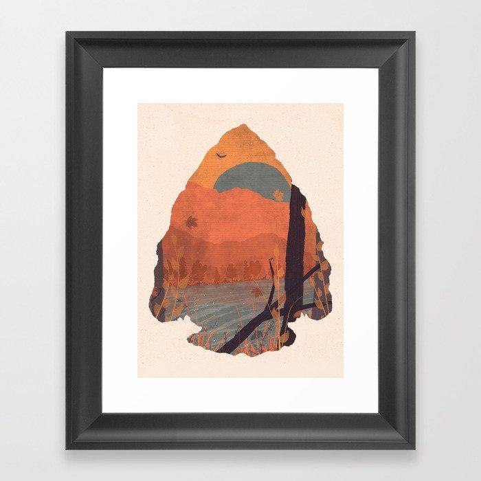 Autumn in the Gorge... - Arrowhead Framed Art Print