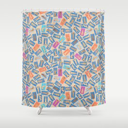 DUDE BEACH, by Frank-Joseph Shower Curtain