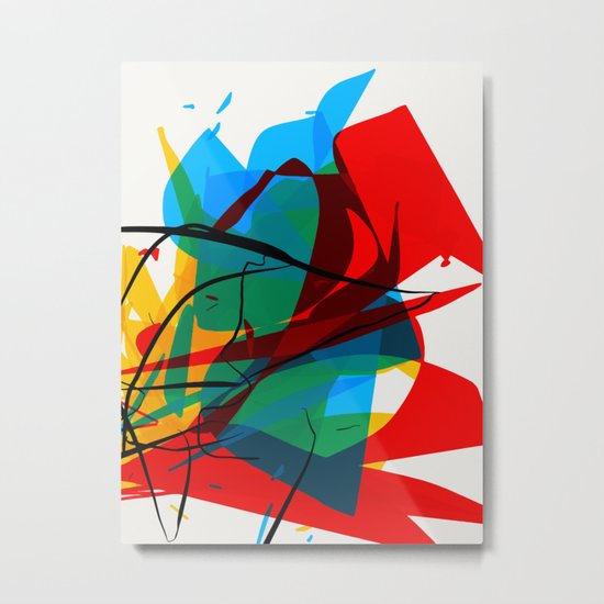 Abstract art made by Thimeo 19 months Metal Print