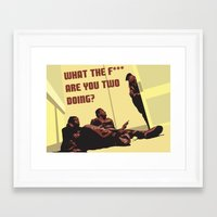 snatch Framed Art Prints featuring Snatch by AJAN