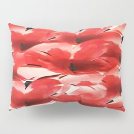 Red Poppies - Painterly Pillow Sham