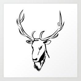 Ciervo negro Art Print