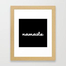 Namaste (Brush) Framed Art Print