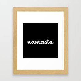 Namaste (Brush) Framed Art Print