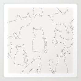 Coit Cat Pattern 1 Art Print