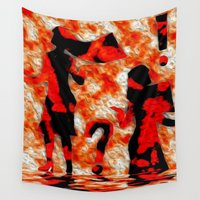 mom Wall Tapestries featuring Mom by Violet Vibrance
