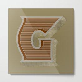 BOLD 'G' DROPCAP Metal Print