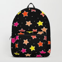 Sunset Star Stickers Backpack