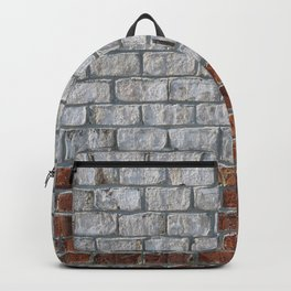 Two Tone Brick Wall Close Backpack