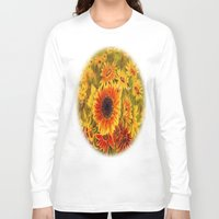 sunflowers Long Sleeve T-shirts featuring SUNFLOWERS by Vargamari
